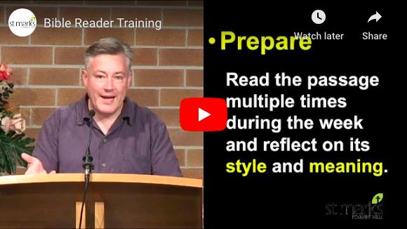 Bible Reader Training